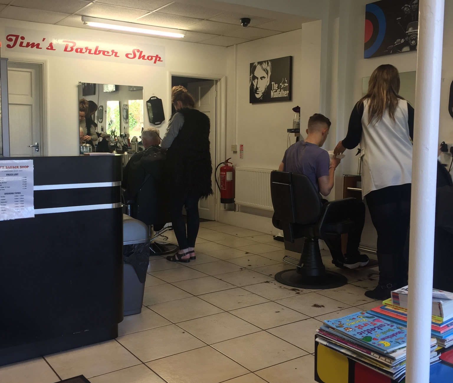 Our Havant Barbers busy at work